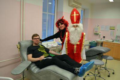 Mikuláše mohou zájemci v Prostějově oslavit i darováním krve