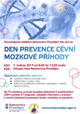 7.5. 2019 Den prevence cévní mozkové příhody připravuje Nemocnice Prostějov