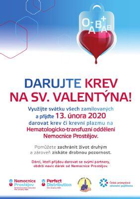 Nemocnice Prostějov odmění nejen dvojice dárců při Valentýnském odběru