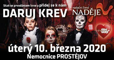 """10. 3. 2020 - Nemocnice Prostějov cílí na prvodárce kampaní """"450 ml naděje"""""""