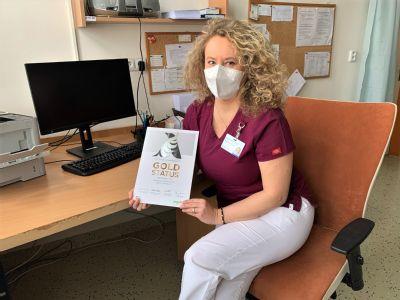 Neurologické oddělení Nemocnice AGEL Prostějov získalo ESO Angels ocenění